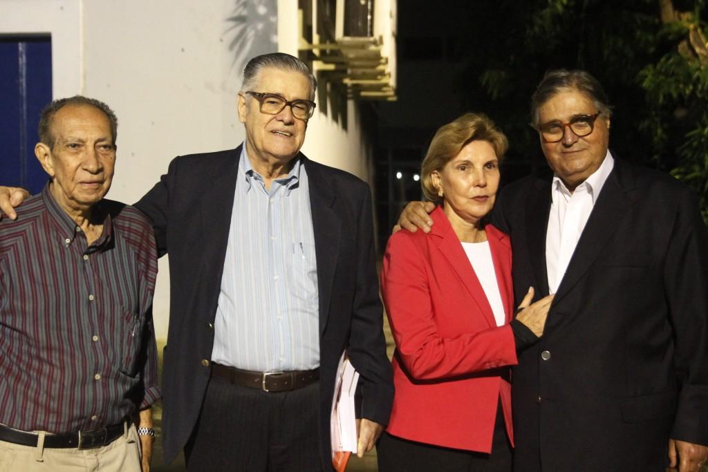 Luiz Carlos Ferreira, Renato Phaelante, Lecticia Cavalcanti e Jose Paulo Cavalcanti - Crédito: Ricardo Fernandes/DP