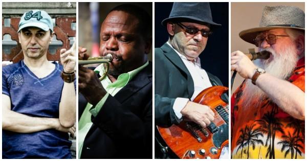 Zecxa Baleiro, Leroy Jones, Nuno Mindelis e Hermeto Pascoal na terceira edição do Festival BB Seguridade de Blues e Jazz - Crédito: Divulgação dos artistas