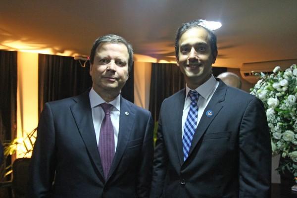 Claudio Lamachia (presidente do Conselho Federal da OAB) e Ronnie Preuss Duarte (presidente da OAB/PE) - Crédito: Roberto Ramos/DP