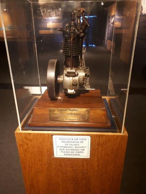 O motor original que foi utilizado nos primeiros balões - Crédito: Marília Gouveia/DP