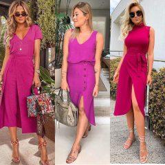Inspirações: Looks monocromáticos pink & red são tendência na estação