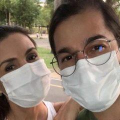 """Fátima Bernardes volta ao Recife e se exercita ao ar livre: """"Depois de seis meses"""""""
