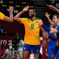 Olimpíadas: Brasil vence Japão no vôlei masculino e avança às semifinais